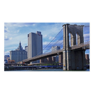 East River: Puente de Brooklyn y edificio Plantillas De Tarjeta De Negocio