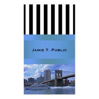 East River: Puente de Brooklyn y edificio Tarjetas De Visita