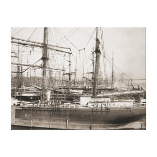 East River Shipping New York 1889 Canvas Print