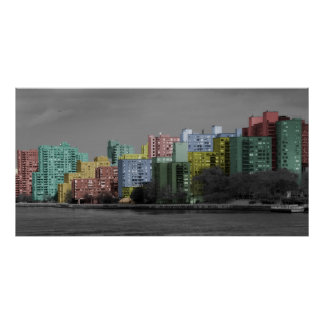 East River Skyline  Panorama Poster