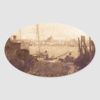 East River View Oval Sticker