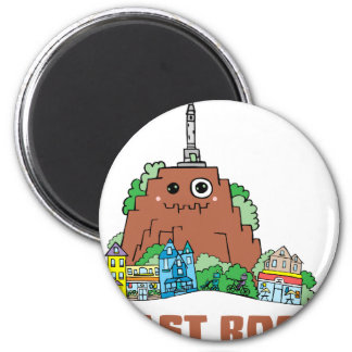 East Rock 2 Inch Round Magnet