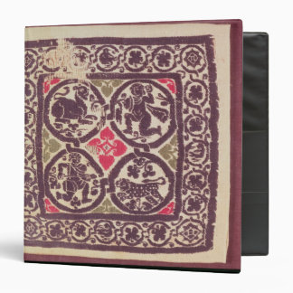 East Roman Empire tapestry showing wild beast 3 Ring Binder