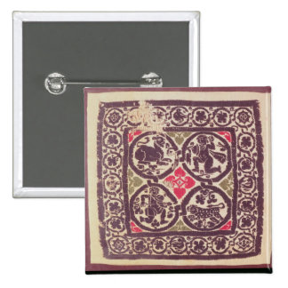 East Roman Empire tapestry showing wild beast Button