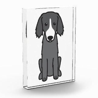 East Russian Coursing Hound Dog Cartoon Acrylic Award
