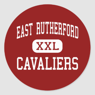 East Rutherford - Cavaliers - High - Bostic Classic Round Sticker