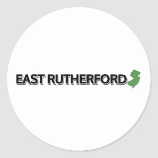 East Rutherford, New Jersey Classic Round Sticker