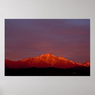 East San Bernardino Peak at Sunset Poster print