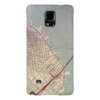 East San Francisco Topographic Map Galaxy Note 4 Case