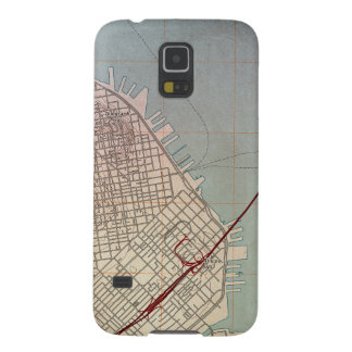 East San Francisco Topographic Map Galaxy S5 Cases