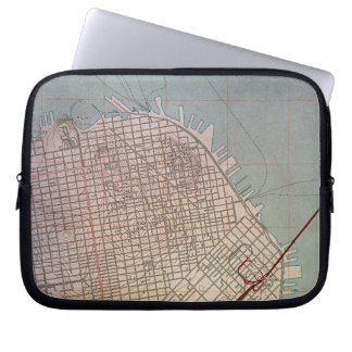 East San Francisco Topographic Map Laptop Sleeve