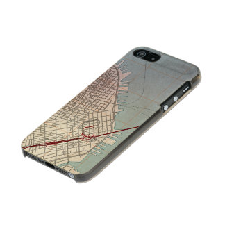 East San Francisco Topographic Map Metallic Phone Case For iPhone SE/5/5s