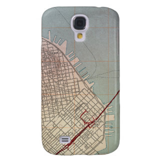East San Francisco Topographic Map Samsung Galaxy S4 Case