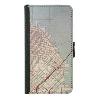 East San Francisco Topographic Map Samsung Galaxy S5 Wallet Case