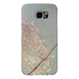 East San Francisco Topographic Map Samsung Galaxy S6 Case