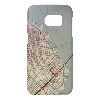 East San Francisco Topographic Map Samsung Galaxy S7 Case