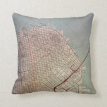 East San Francisco Topographic Map Throw Pillows