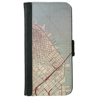 East San Francisco Topographic Map Wallet Phone Case For iPhone 6/6s