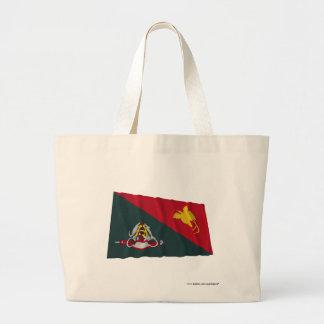 East Sepik Province Waving Flag Canvas Bags