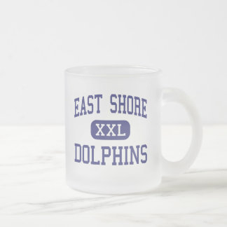 East Shore Dolphins Middle Milford 10 Oz Frosted Glass Coffee Mug