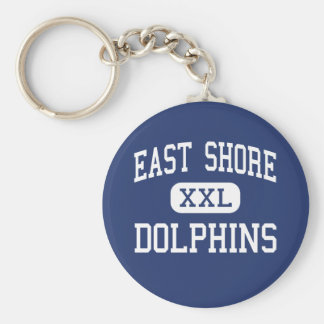 East Shore Dolphins Middle Milford Basic Round Button Keychain
