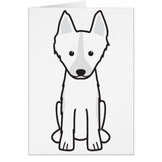 East Siberian Laika Dog Cartoon Card