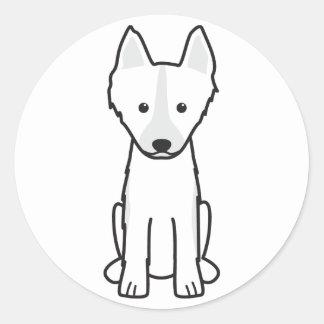 East Siberian Laika Dog Cartoon Classic Round Sticker