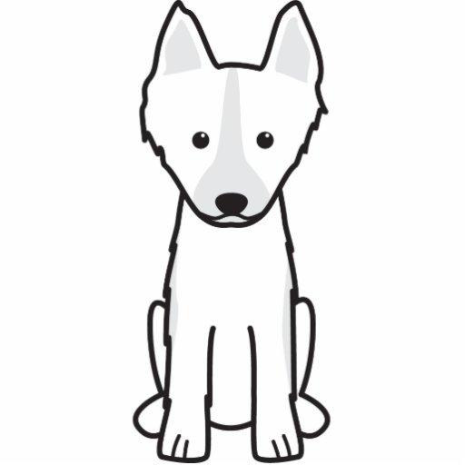 East Siberian Laika Dog Cartoon Acrylic Cut Out