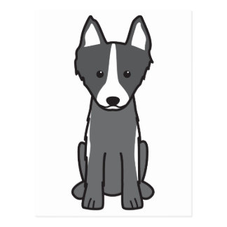 East Siberian Laika Dog Cartoon Postcard