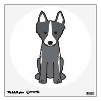 East Siberian Laika Dog Cartoon Wall Decal