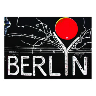 East Side Gallery, Berlin Wall, Barbed Wire/Red Su Large Business Cards (Pack Of 100)