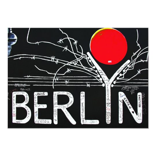 East Side Gallery, Berlin Wall, Barbed Wire/Red Su Card