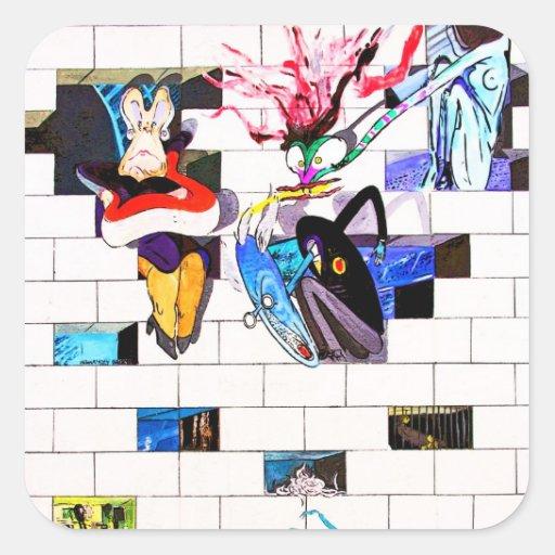 Wall Art Stickers East Rand : East side gallery berlin wall brick art square