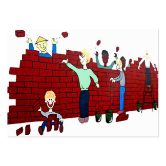East Side Gallery,Berlin Wall,Collapse,Cartoon(2) Large Business Cards (Pack Of 100)