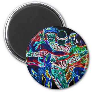 East Side Gallery, Berlin Wall, Dancing (2) 2 Inch Round Magnet