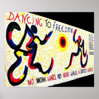 East Side Gallery,Berlin Wall,Dancing Freedom Print