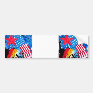 East Side Gallery, Berlin Wall, Flags Bumper Sticker