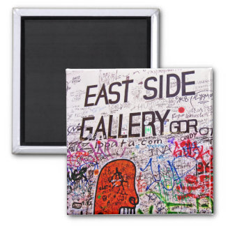 East Side Gallery, Berlin Wall, Graffiti 2 Inch Square Magnet