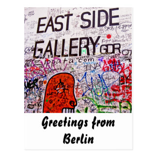 East Side Gallery, Berlin Wall, Graffiti Postcard