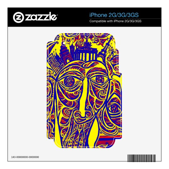 East Side Gallery, Berlin Wall, Modern Art (w30bry Skins For The iPhone 2G