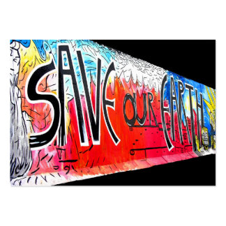 East Side Gallery, Berlin Wall, Save Our Earth (1) Large Business Cards (Pack Of 100)