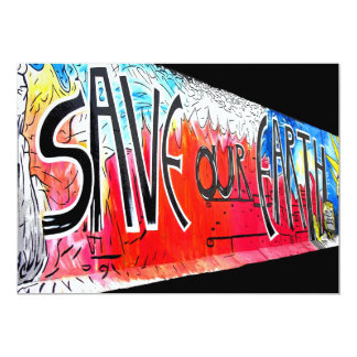 East Side Gallery, Berlin Wall, Save Our Earth (1) Card