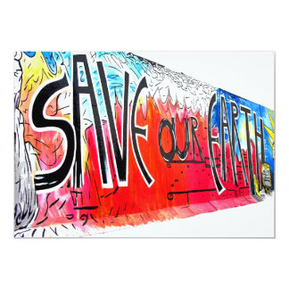 East Side Gallery, Berlin Wall, Save Our Earth (2) Card