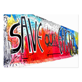 East Side Gallery, Berlin Wall, Save Our Earth (2) Large Business Card