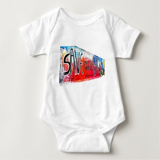 East Side Gallery, Berlin Wall, Save Our Earth (2) Tee Shirt