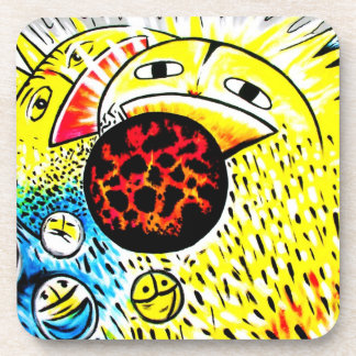 East Side Gallery,Berlin Wall,Sunshine and Smile Drink Coaster
