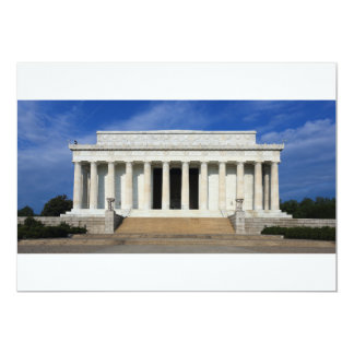 East Side of the Lincoln Memorial Washington D.C. Card