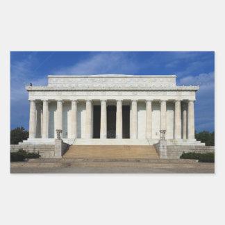 East Side of the Lincoln Memorial Washington D.C. Rectangular Sticker