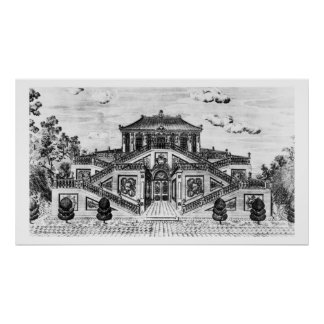 East side of the Palace of the Calm of the Sea, Ga Poster