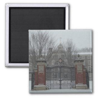 East Side Providence, Rhode Island Winter Scene 2 Inch Square Magnet